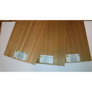Pack of 3 Sheets WAL2X3 Walnut Wood Panels 100mm x 450mm x 3mm
