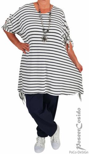 LAGENLOOK Cut Out Tunika Long-Shirt XL-XXL-XXXL 44 46 48 50 52 54 56 58 blau