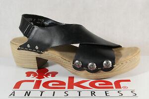 Rieker Damen Sandalen Sandaletten Sandale schwarz V6888 cMVYh