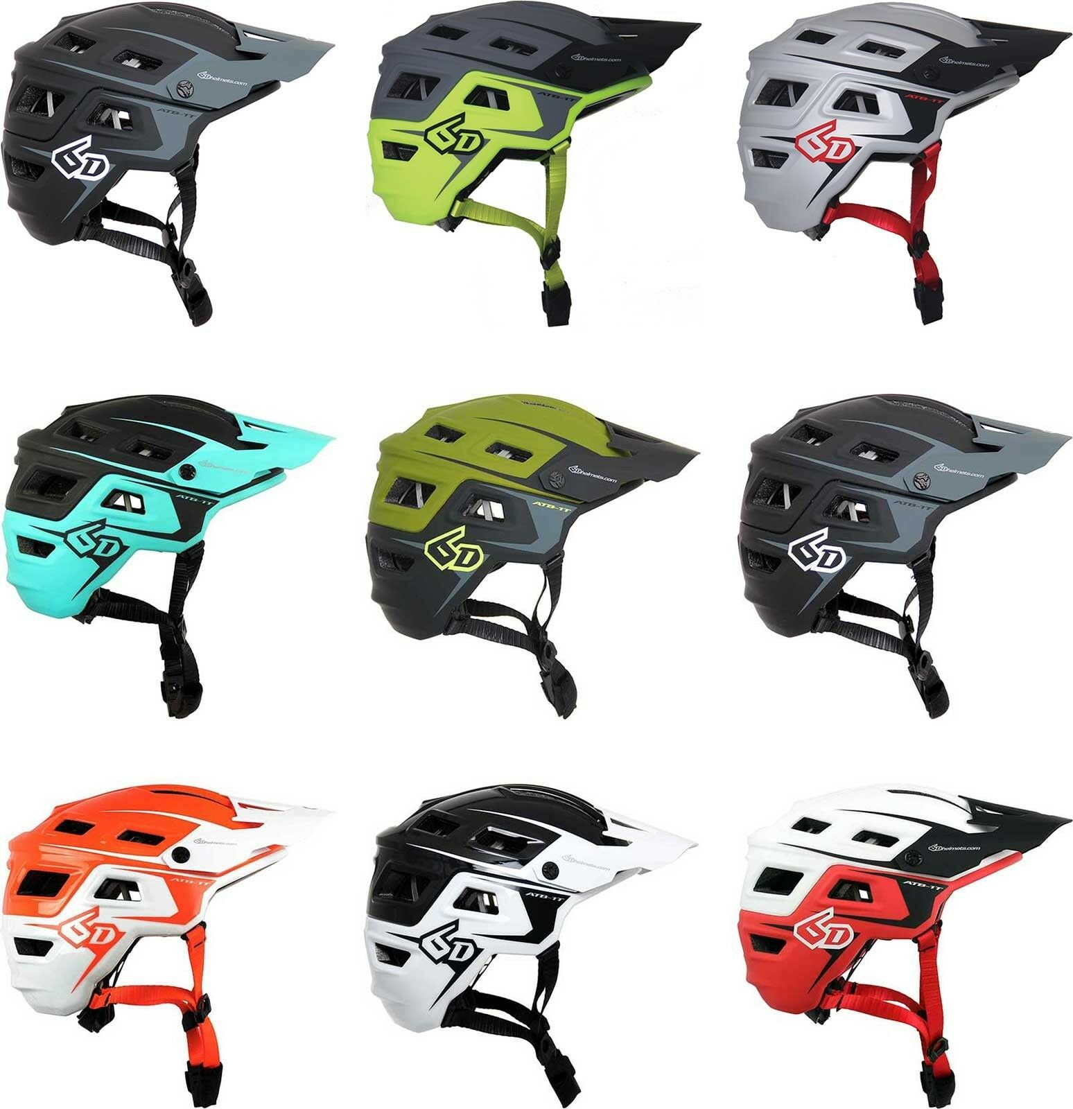 6D ATB1T EVO Trail Bicycle Helmet Adult Mountain Bike