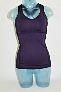 58-LULULEMON-Sz-4-Push-Ur-Your-Limits-Tank-Top-Deep-Zinfandel-Purple-Shelf-Bra