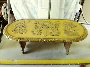 Image Is Loading Hand Carved Mayan Tribal Carved Coffee Table From