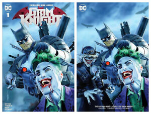 BATMAN-WHO-LAUGHS-GRIM-KNIGHT-1-Mike-Mayhew-Variant-Cover-Set-NM-1st-Print