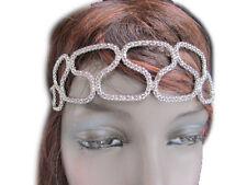 New Women Chain Silver Head Elegant Hair Fashion Jewelry Waves Design Elastic