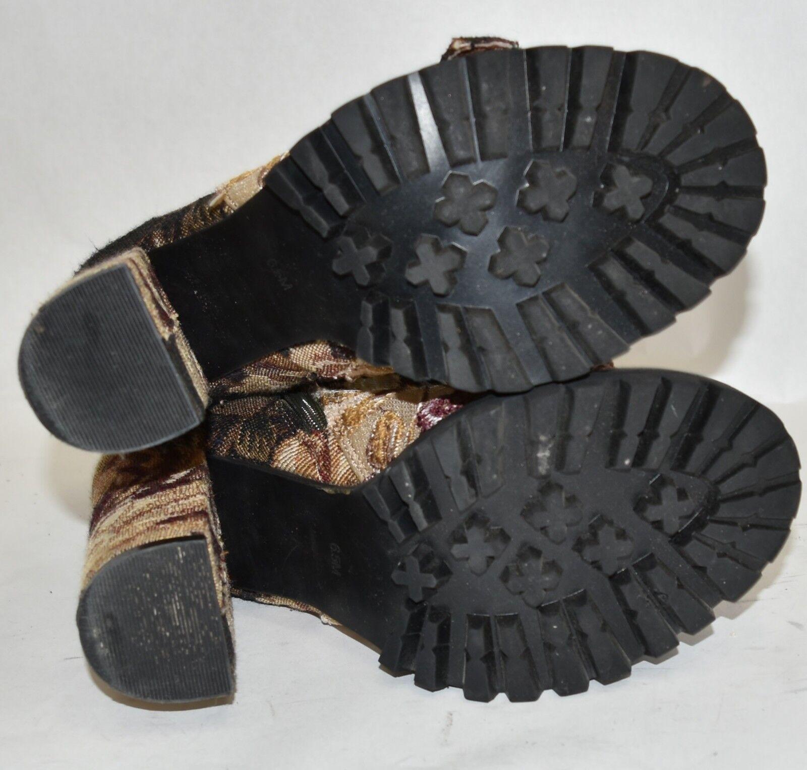JEFFREY CAMPBELLLilith Block Heel Bootie BEIGE BEIGE BEIGE PINK COMBO 6.5  (M2) 5615f9