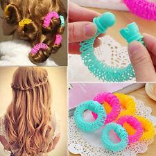 8 Pcs Hairdress Magic Bendy Hair Styling Roller Curler Spiral Curls DIY Tools LW