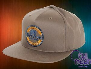 Image is loading New-Brixton-Soto-Chord-Brown-Mens-Snapback-Hat- bd2dfaf01a8