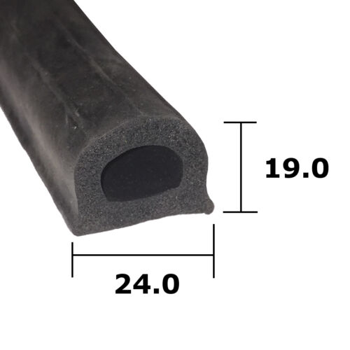 Cars Home Boats DIY Sponge D Rubber Extrusion 24mm x 19mm