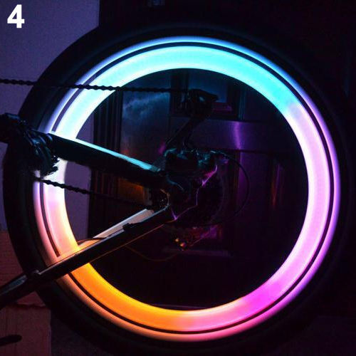 Colorful Bike Bicycle Cycling Spoke Wire Tire Tyre Wheel LED Bright Light LampAA