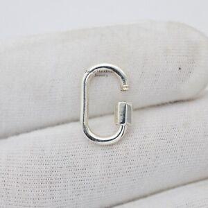 925 Silver Half Moon Shape 30MM Carabiner Lock Silver Connector Handmade Jewelry