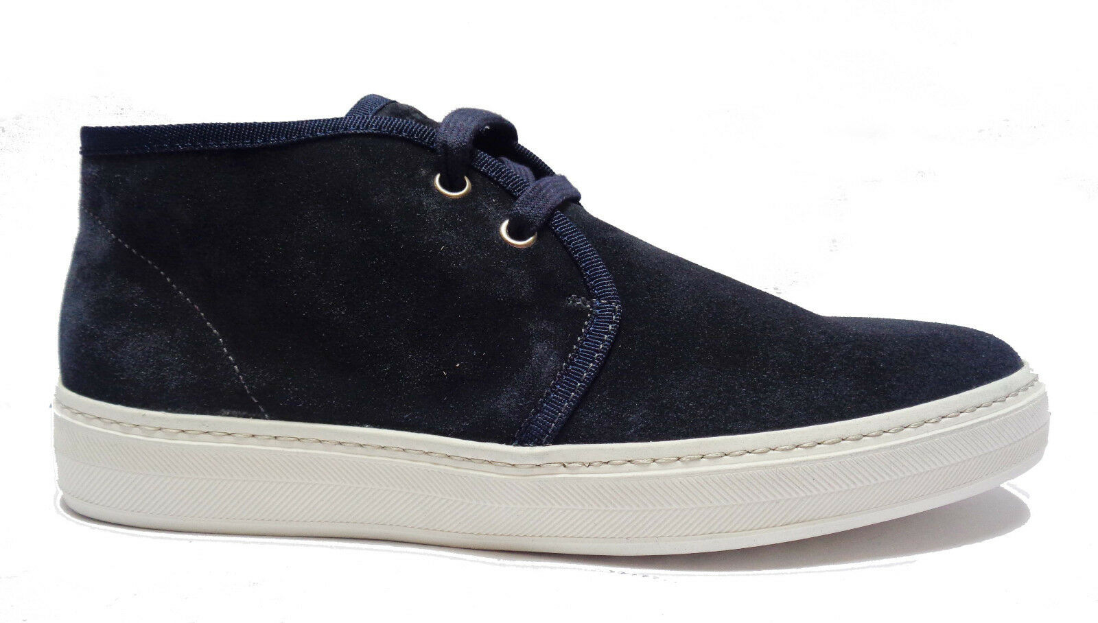 Frau 28A5 Hohe Schuhe Casual Men mit Schnürung aus Wildleder Blau