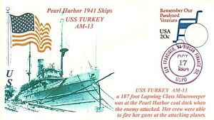 Uss-Pavo-AM-13-USN-Minesweeper-Pearl-Harbor-1941-Barco-Cacheted-Cubierta-U-605