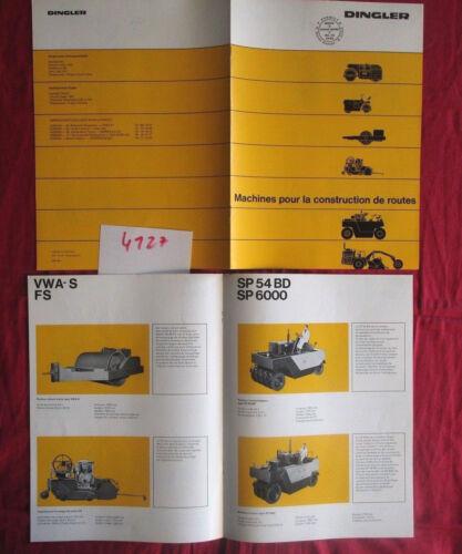 N°4127 DINGLER catalogue  machines pour la construction de route ;français