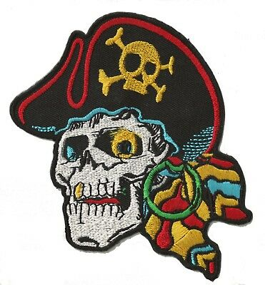 Écusson patche Pirate badge patch DIY création vêtements thermocollant brodé
