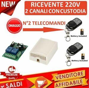 CENTRALINA-PER-TAPPARELLE-SERRANDE-LUCI-433-MHZ-220V-2-CH-2-TELECOMANDI