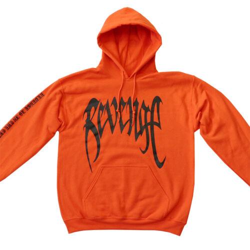 Men Red Black Print REVENGE /'KILL/' HOODIE TOP XXXTentacion Bad Vibes Forever