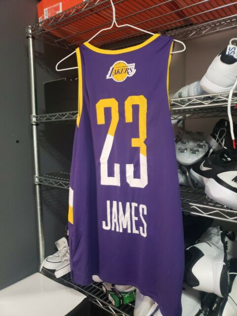 Lebron James Los Angeles Lakers 23 NBA Purple Jersey Large ...