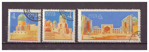 Sowjetunion-Baudenkmaeler-in-Samarkand-MiNr-2824-2826-1963-used