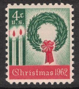 Scott-1205-Navidad-Guirnalda-y-Candles-MNH-5c-1962-sin-Usar-Nuevo-Sello