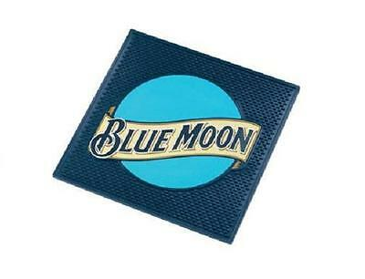 BLUE MOON BELGIAN WHITE ALE BEER LARGE SPILL MAT BAR COASTER NEW