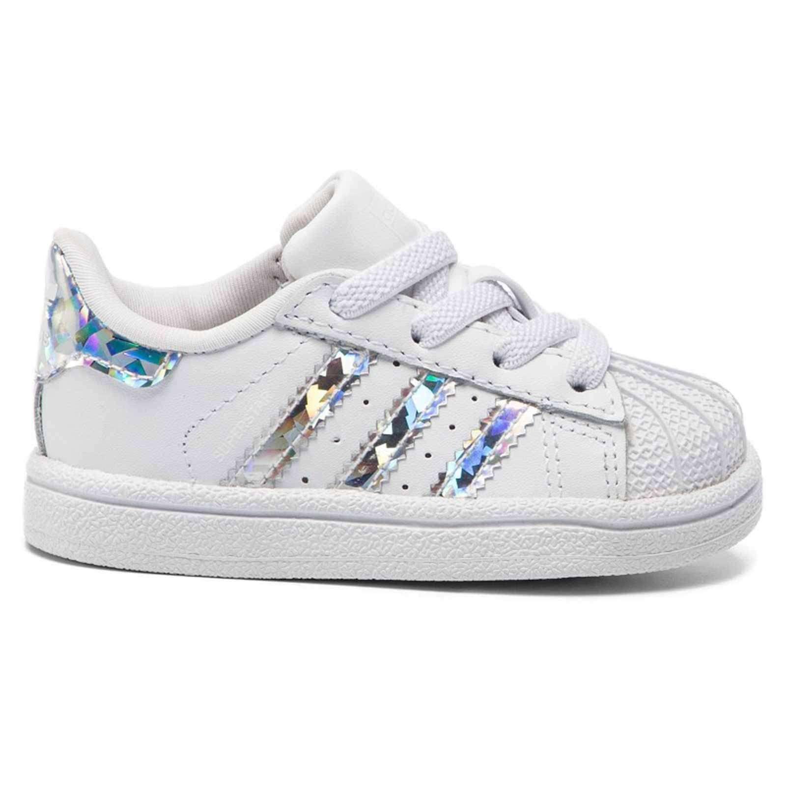 Adidas Baby Iridescent Zapatos Blanco Zapatillas Plata Girl Cg6707 iOXPkZu
