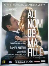 PUBLICITE-ADVERTISING :  AU NOM DE MA FAMILLE  2016 Daniel Auteuil