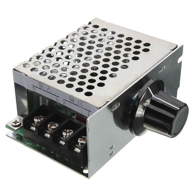 4000W 220V AC SCR Voltage Regulator Dimmer Electric Motor Speed Controller NEW