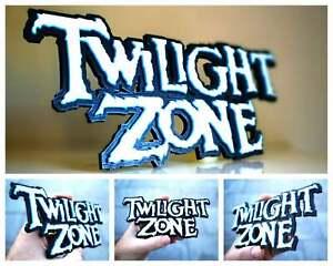 Twilight Zone 3D logo / shelf display / fridge magnet - pinball collectible