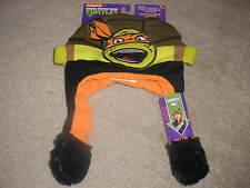 New As Seen On TV Teenage Mutant Ninja Turtles Michelangelo Flipeez Winter Hat