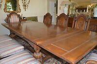 ANTIQUE 12pc OAK DINING ROOM SET J.B. Van Sciver Co. Carved circa 1920