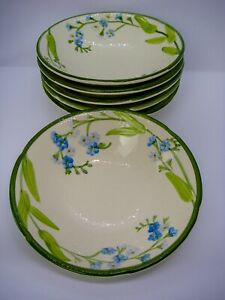 Franciscan-Forget-Me-Not-6-Soup-Cereal-Bowls-7-x-1-3-4-inches