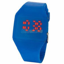 WHOLESALE 8pcs FASHION DIGITAL DISPLAY RED LED TOUCH SCREEN WRISTWATCH