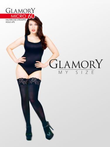 Glamory Micro 60-Supporto di alta qualità senza calze 40/42 - 60/62 CONFEZIONE DOPPIA