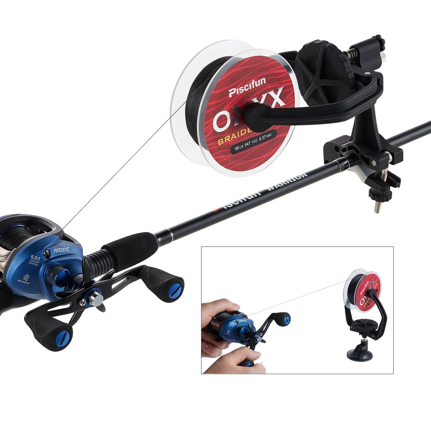 Piscifun New Fishing Line Spooler Portable Spooling Station System  Fishing Re...  the best online store offer