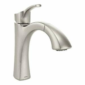Details about Moen Voss Kitchen Sink Faucet Brushed Nickel Single Handle  Spray Soap 9125SRS