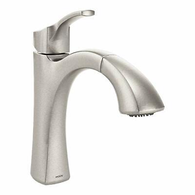 Moen Voss Kitchen Sink Faucet Brushed Nickel Single Handle Spray Soap  9125SRS 26508254349   eBay