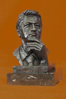 President Bill Clinton 100/% Pure Bronze Bust Masterpiece Hot Cast Figurine Sale