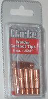 12 Clarke 11-24 Mig Welding Contact Tips Fits Tweco Mini/1 Lincoln 100l Mig Gun
