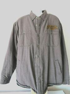 GRAY-Harley-Davidson-Flannel-Long-Sleeve-Sleeved-Shirt-Motorcycle-Jacket-2XL-XXL