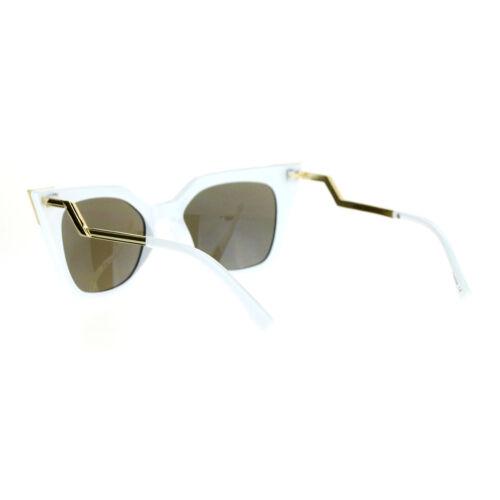 Womens Square Cateye Sunglasses Gold Accent Corner Zig Zag Side