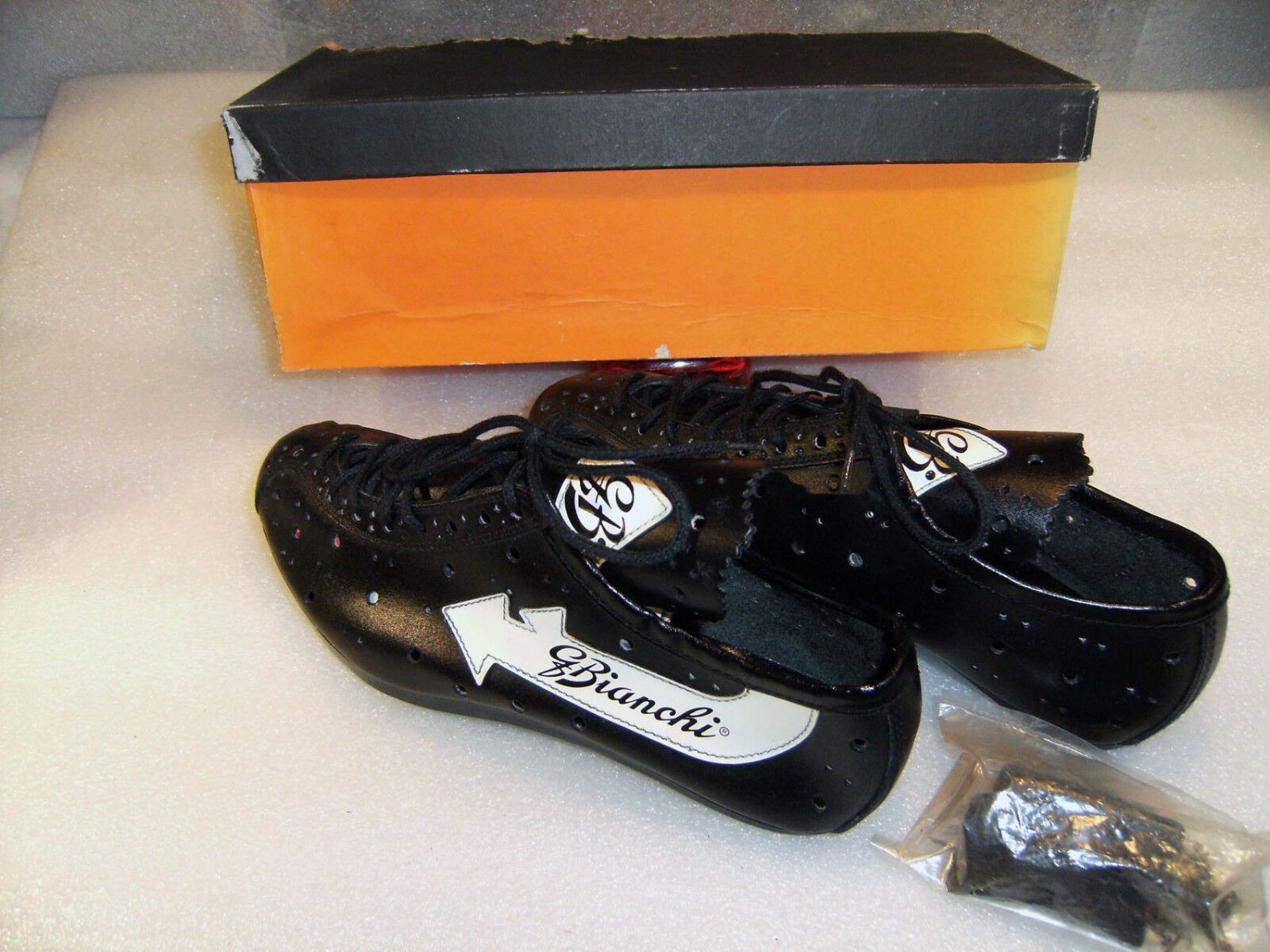 Vintage   NOS  BIAN  LEATHER SHOES, EU SIZE 38, with clips, in Box.  customers first