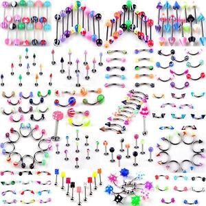 110pcs-Misto-Labbro-Lingua-belly-ombelico-Anelli-Piercing-Corpo-Gioielli-Regalo