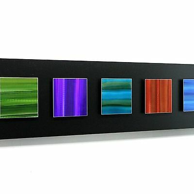 Abstract Black/Green/Purple/Blue/Red Metal Wall Art Accent by Jon Allen - Neonic