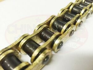 Motorcycle-520-X-Ring-Gold-Drive-Chain-104-Links-includes-Rivet-and-Split-Links