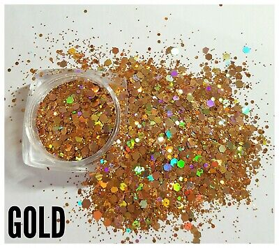 Nail Glitter 5g Gold Holographic Multicut Glitter For Acrylic/gel Keep You Fit All The Time Health & Beauty
