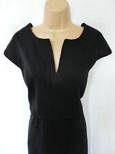 NEXT BNWT black grey work office work wear knee stretch tailored shift dress 16