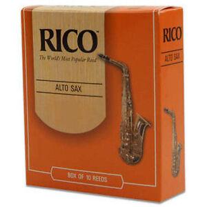 """""""rico Alto Sax Reeds, Strength 2, Open Box 9 Neuf-afficher Le Titre D'origine"""