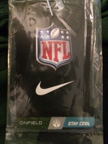 NWT Nike Men/'s OnField Polo Shirt New York Jets DriFit Green SZ Large