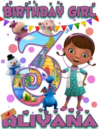 Doc McStuffins Personalized Birthday T-Shirt Party Favor