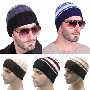 Fashion-Women-039-s-Men-039-s-Hat-Unisex-Warm-Winter-Knit-Cap-Hip-hop-Beanie-Hats-Black